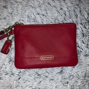 Red Authentic Coach Wristlet